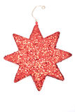 A red glitter star isolated on white Stock Images