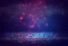 Red glitter vintage lights background Royalty Free Stock Photo