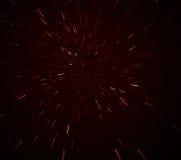 Red glitter vintage lights background. defocused. Stock Photography