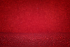 Red glitter vintage lights background Royalty Free Stock Images