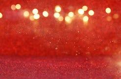 Red glitter vintage lights background Stock Image
