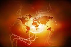 Red global stock de ilustración