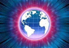 Red global binaria fotografía de archivo