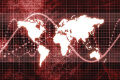 Red Global Business Economy Abstract Stock Photo