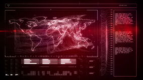 Red global business interface stock video