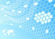 Red global - concepto de la célula Ilustración del Vector