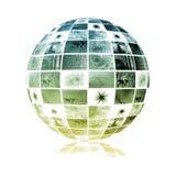 Red global de la industria de las telecomunicaciones ilustración del vector