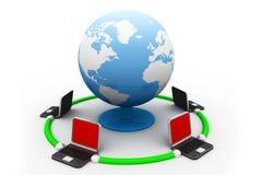 Red global Internet Foto de archivo libre de regalías