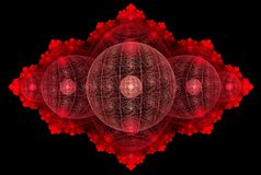 Red global orb abstract Royalty Free Stock Photos