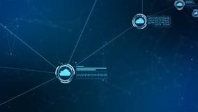 Red global segura Nube de Digitaces que computa concepto cibernético de la seguridad stock de ilustración