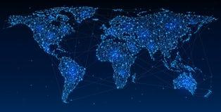 Red global y comunicaciones Imágenes de archivo libres de regalías