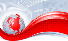 Red globe. Аmerica. Royalty Free Stock Images