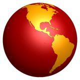 Red globe Stock Photo