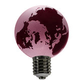 Red Globe as Bulb. An overheated earth acting as the glass globe of an electric bulb stock images