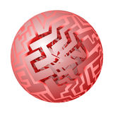Red globe Royalty Free Stock Images