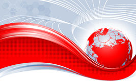 Red globe. Europe,Asia. Stock Image