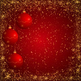 Red and gloden christmas background Stock Photos