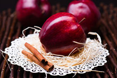 Red gloss apple Royalty Free Stock Images