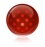 Red glossy abstract sphere Royalty Free Stock Photography