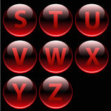 Red glossy alphabet letters (S-Z) Royalty Free Stock Image