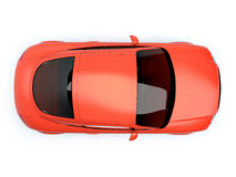 Red glossy auto top view Royalty Free Stock Photo
