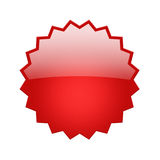 Red glossy badge Stock Images