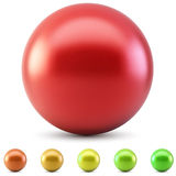 Red glossy ball Stock Images