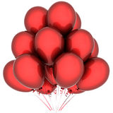 Red glossy balloons Stock Photo