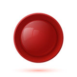 Red glossy button icon isolated on white Royalty Free Stock Photos
