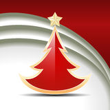 Red glossy Christmas tree Stock Photography