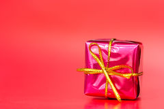 Red glossy gift Stock Photography