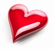 Red Glossy Heart Stock Photos