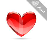 Red glossy heart Royalty Free Stock Photos