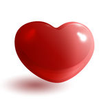 Red glossy heart 3d Royalty Free Stock Photos