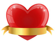 Red glossy heart Stock Photography