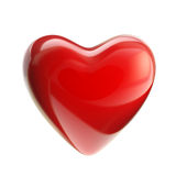 Red glossy heart isolated Stock Photography