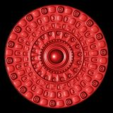 Red glossy metal ornament Stock Photography