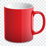 Red glossy mug Stock Photo