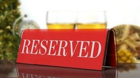 Red glossy reservation Royalty Free Stock Images