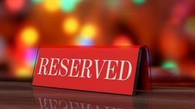 Red glossy reservation Royalty Free Stock Photography