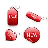 Red glossy sale tags Royalty Free Stock Photo