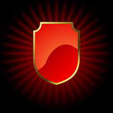 Red glossy shield Stock Photo