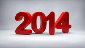 2014 red glossy Royalty Free Stock Photo