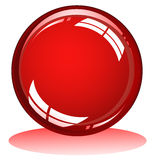 Red glossy sphere Royalty Free Stock Image