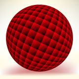 Red glossy sphere isolated on white. EPS 8 Stock Photography