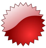 Red glossy star. Stock Image