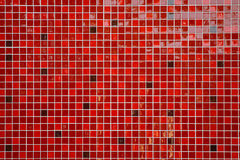 Red glossy tiles Royalty Free Stock Images