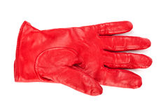 Red glove. Isolated on white background Royalty Free Stock Photography