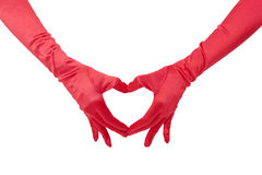 Red Glove Love Royalty Free Stock Photo