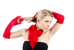 Red gloves Stock Photo